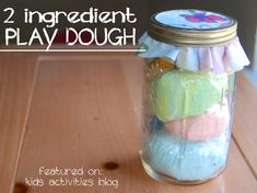 2 Ingredient Play Dough Recipe: No Cook PlayDough