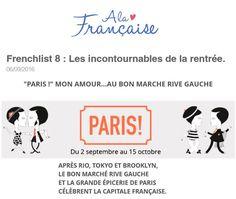 """""""PARIS !"""" MON AMOUR...AU BON MARCHE RIVE GAUCHE - HELLO COTON #ParisVuAuBonMarche #VuAuBonMarche #LeBonMarche #PressBook #PressReview"""