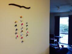 Magazine origami wall piece