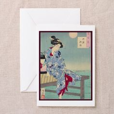 Japanese illustration Greeting Cards (Pk of 10 on CafePress.com