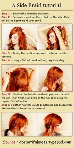 A Side Braid tutorial