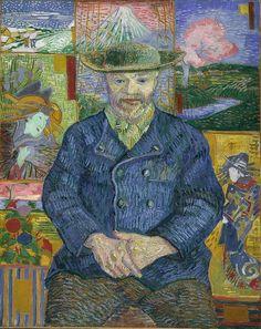 Van Gogh, Portrait of Père Tanguy, Autumn 1887. Oil on canvas, 92 x 75 cm. Musée Rodin, Paris.