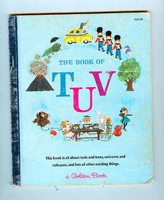 Book of T U V - Little Golden Vintage Jane Werner Watson Dictionary A Print 1965
