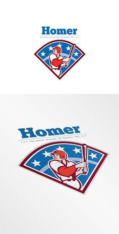 Homer Baseball News Logo by patrimonio on @creativemarket