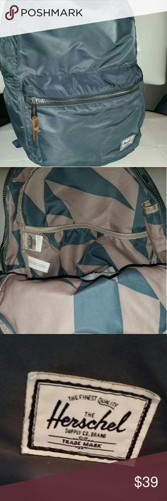 EUC HERSCHEL OCEAN BLUE NYLON BACKPACK! Minor everyday wear to an from the office no real noticeable stains NO rips or holes  *SMOKE FREE HOME Herschel Supply Company Bags