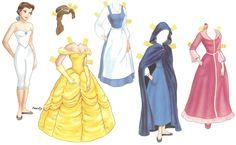Бумажные куклы с одеждой: шаблоны в картинках