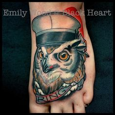57d4397db46c6 Owl tattoo by Emily Wood - Black Heart Tattoo Studio, Epsom, UK -