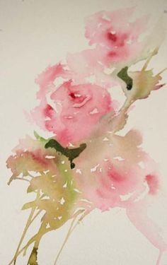 """Painting Roses in a Loose Style Adding Foliage One of my most popular posts on my blog is """"How to Paint Roses in a Loose Style""""..."""