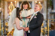 Bride and Groom laughing during their wedding ceremony Weston Park, Bridesmaid Dresses, Wedding Dresses, Laughing, Wedding Ceremony, Groom, Wedding Photography, Blog, Fashion