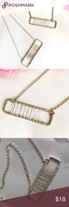 "WIRED FRAME PENDANT NECKLACE WIRED FRAME PENDANT NECKLACE Necklace - 17"" + Extension such an elegant touch. Lead & Nickel Compliant Available in silver and gold      BUNDLE & SAVE 15% ✨TOP RATED SELLER✨ SAME DAY OR NEXT DAY SHIPPING! ❤REASONABLE OFFERS WELCOME❤ ❌NO TRADES OR PAYPAL❌ Jewelry Necklaces"