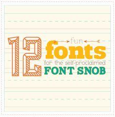 Font Snob Fonts