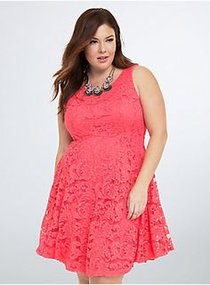 Shop plus size clothing in the latest styles at Torrid! Find women's plus size clothing, dresses, lingerie, tops, jeans & more in sizes Trendy Plus Size Clothing, Plus Size Fashion For Women, Plus Size Dresses, Plus Size Outfits, Coral Lace Dresses, Nice Dresses, Awesome Dresses, Flare Skirt, Fit Flare Dress