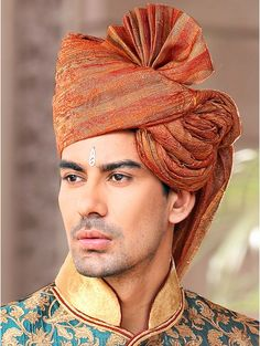Indian groom - Ethnic Rust Turban