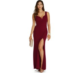 Rose-Burgundy Formal Dress