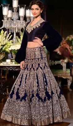 SRK and Deepika Padukone walking the ramp for Manish Malhotra collection at PCJ Delhi Couture Week 2013 Indian Wedding Fashion, Indian Bridal Outfits, Indian Bridal Wear, Indian Dresses, Bridal Dresses, Eid Dresses, Blue Bridal, Bridal Fashion, Indian Fashion