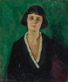 "Although not officially a member of the Beaver Hall Group, Heward was close to several of its members. Lilias Torrance Newton, ""Portrait of Prudence Heward,"" c. 1920, private collection."