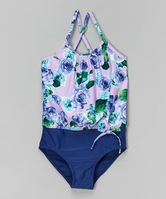 Another great find on #zulily! Lilac Rose Blouson One-Piece - Toddler & Girls by Marina West #zulilyfinds