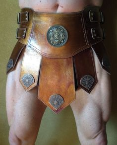 roman armor - koper kleurige gladiator rok van tuigleder