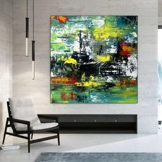 Apartment Decor Abstract Canvas Art Extra Large Wall Art image 2
