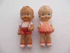 vintage plastic squeak dolls Sun Rubber Ruth by GypsyGoatKids, $49.00