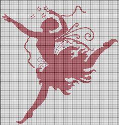 Elfe_ballerine Ballerina Fairy Cross stitch