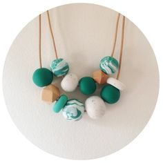 Mojito  Double Dutch Green Polymer Clay Bead by palindromeandco