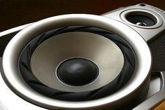 A silver and black speakers Used Cars, Speakers, Silver, Black, Black People, Loudspeaker, Money