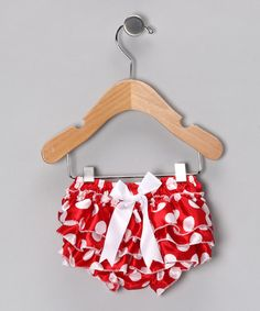 Take a look at this Red Polka Dot Ruffle Diaper Cover - Infant by Petti Posh on #zulily today!