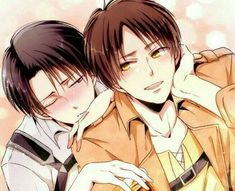 Eren Y Levi, Attack On Titan Eren, Attack On Titan Ships, Attack On Titan Fanart, Armin, Ereri, Anime Ai, Shounen Ai, Levi Ackerman
