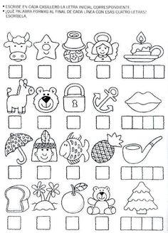 Fichas Infantiles: Ficha de las letras para infantil