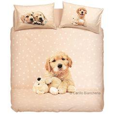 http://www.carillobiancheria.it/bassetti-completo-copripiumone-copripiumino-matrimoniale-golden-puppy-cani-h386.html  #carillolist