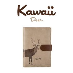 Kawaii Spiral Notebook – The Gray Giraffe Shop ----------- journaling, journal ideas, notebook ideas, sketchbook ,journal pages, cover, bullet, inspiration, writing, aesthetic, organization, design, cute,diary, animal, deer, brown, horns, artminimalism, minimalist, minimalistic, clean, simple design