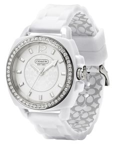COACH BOYFRIEND SILICON RUBBER STRAP WATCH - need to tell my boyfriend to buy for me :)
