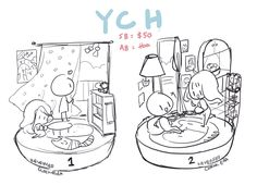 another YCH! 8D this time I wanted to try with raining and chibis, also added a smol pupper :3 ---------------------------------------------------------------------- FA: www.furaffinity.net/view/20...