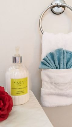effectivespaces on Instagram: Request - how to style a towel ring. This is an oldie but a goodie. Hope it helps xx #effectivespaces #towelart #towelfolding #towels… Handy Tips, Helpful Hints, Towel Rings, Hand Cream, Dinner Parties, Bathroom Inspiration, Housekeeping, Tricks, Cleaning Hacks