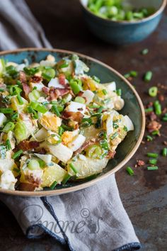 Easy and creamy potatosalad with yogurt and mayo dressing | insimoneskitchen.com