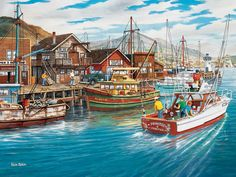Grab a fishing charter and head out into the sea to catch your fresh fish dinner with this 500-piece jigsaw puzzle by Cobble Hill. Description from seriouspuzzles.com. I searched for this on bing.com/images