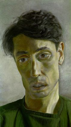 green - man - John Minton  -  portrait - painting - Lucian Freud