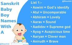 Looking for a Hindu Baby Boy Names Starting With A In Sanskrit? Then your search is over here. You are in the right place. Take some time and have a look through our Sanskrit Baby Boy Names list to find a more meaningful choice for your little one. Sanskrit Baby Boy Names, Hindu Baby Boy Names, Cute Baby Boy Names, Sanskrit Names, Cute Babies, Hindu Names, Baby Boy Name List, Names Starting With A, Meant To Be