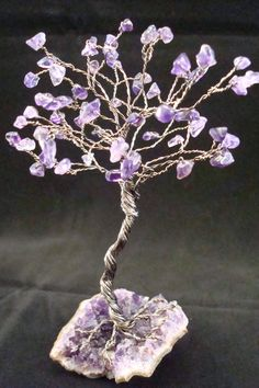 Wire Tree Gemstone Amethyst Gunmetal Copper Wire by gulickkr, $35.00