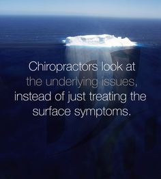 #Chiropractors look at the underlying issues, instead of just #treating the surface #symptoms.