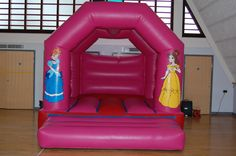 The Princess Castle!   Dimensions are 12ft long by 12ft high  to hire this castle for your little princess' party email: info@bananabouncycastles.co.uk