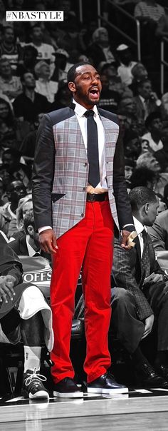 Check out this ensemble by one of the league's best floor generals John Wall. #NBAStyle