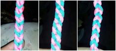 No name experimental braid. Shaped like a triangle this braid sports 3 different patterns on its 3 sides.
