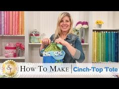 Sew a Cinch Top Tote - video - Sew Modern Bags . click picture for Bag Patterns To Sew, Sewing Patterns Free, Free Sewing, Easy Patterns, Handbag Patterns, Free Pattern, Quilting Tutorials, Sewing Tutorials, Sewing Projects