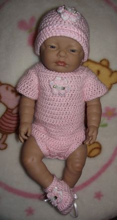 Crochet Baby Girl Onesie Set