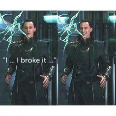 Loki being E V I L! Mwahahahahahahaha