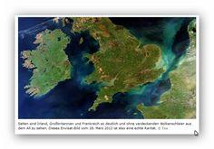 Satellittenbilder Irland,Großbritannien,Frankreich