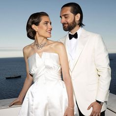 Charlotte Casiraghi's Wedding Outfit Included a Sweet Nod to Grandmother Princess Grace Charlotte Casiraghi, Andrea Casiraghi, Casual Wedding, Wedding Suits, Wedding Bride, Wedding Gowns, Wedding Reception, Civil Wedding, Wedding Music