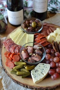 Holiday Cheese Board with Blue Cheese Prosciutto Dates